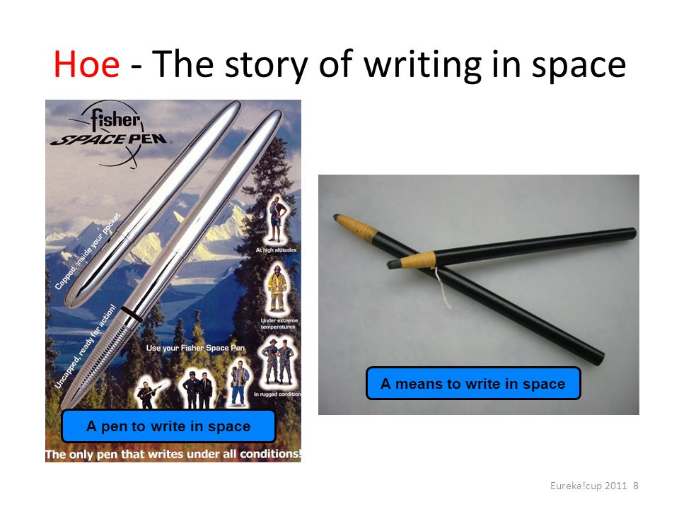 Hoe - The story of writing in space