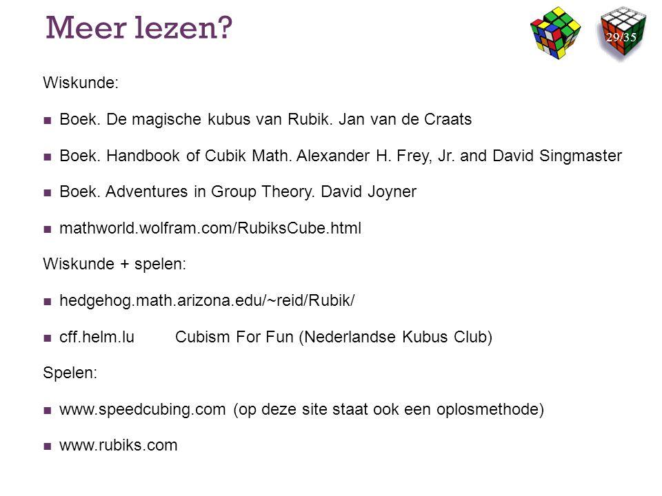 Meer lezen Wiskunde: Boek. De magische kubus van Rubik. Jan van de Craats.