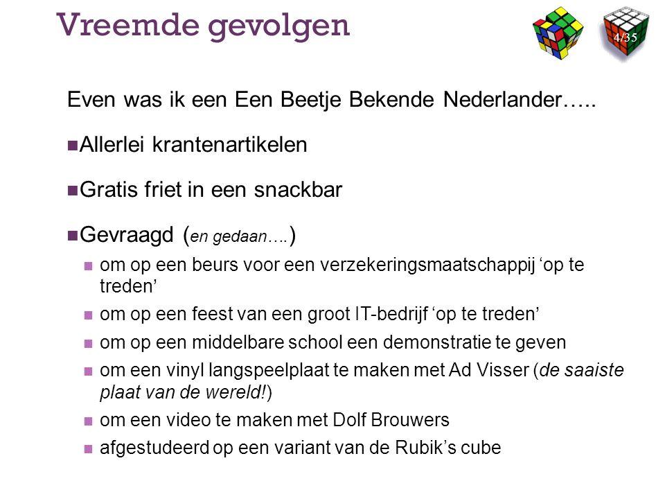Vreemde gevolgen Even was ik een Een Beetje Bekende Nederlander…..