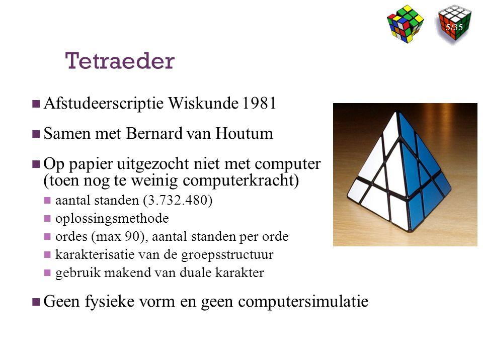 Tetraeder Afstudeerscriptie Wiskunde 1981 Samen met Bernard van Houtum