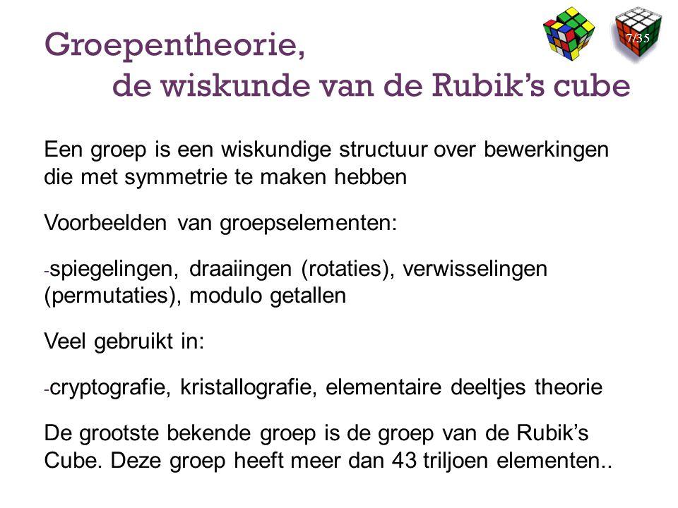 Groepentheorie, de wiskunde van de Rubik's cube
