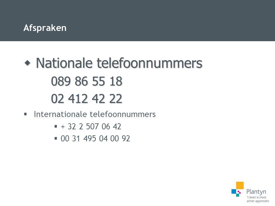 Nationale telefoonnummers