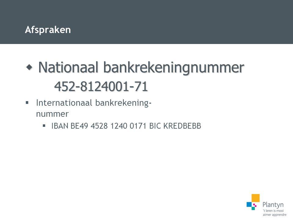 Nationaal bankrekeningnummer
