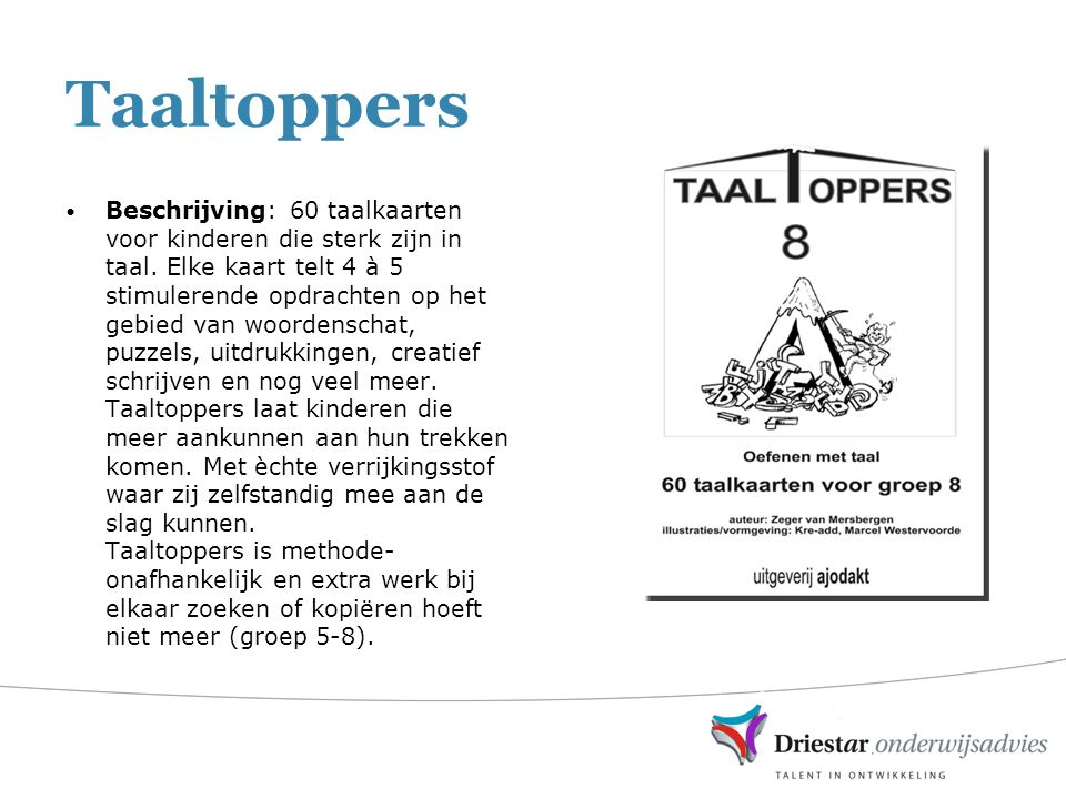 Taaltoppers