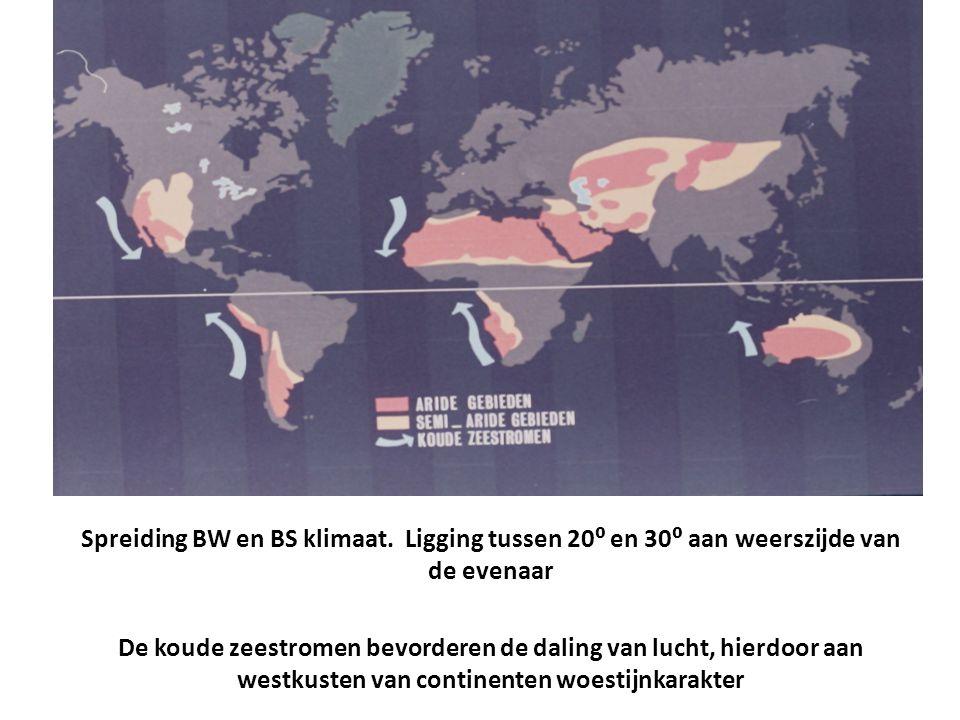 Spreiding BW en BS klimaat