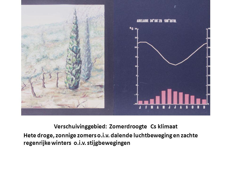 Verschuivinggebied: Zomerdroogte Cs klimaat