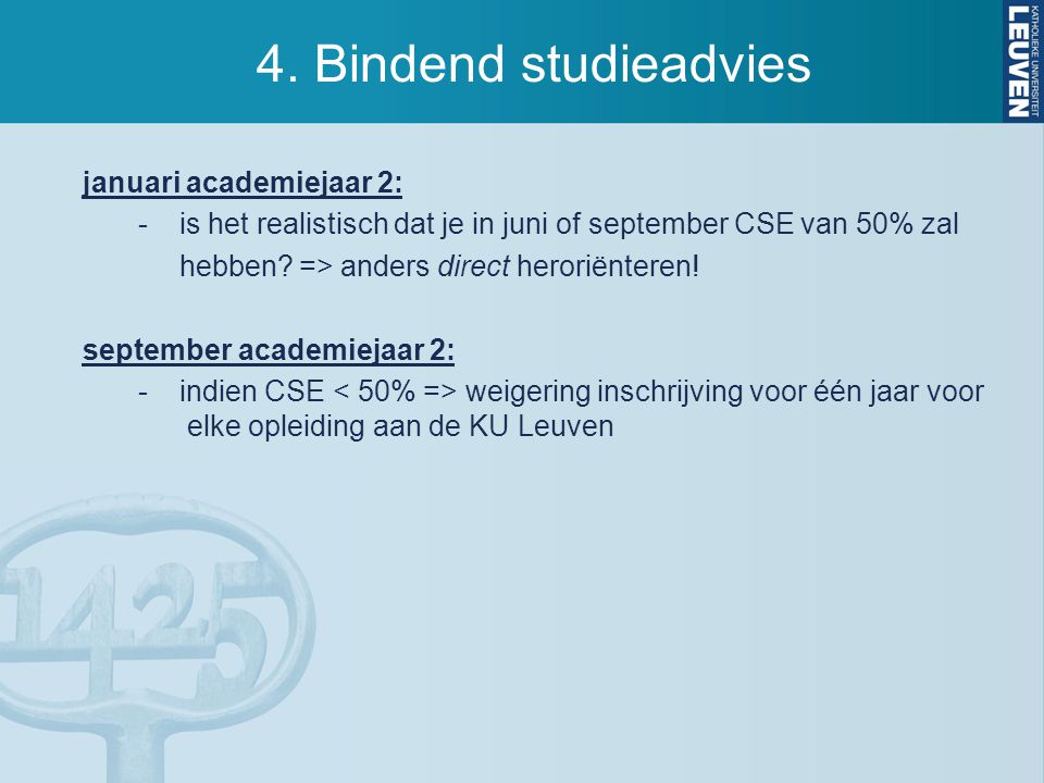 4. Bindend studieadvies