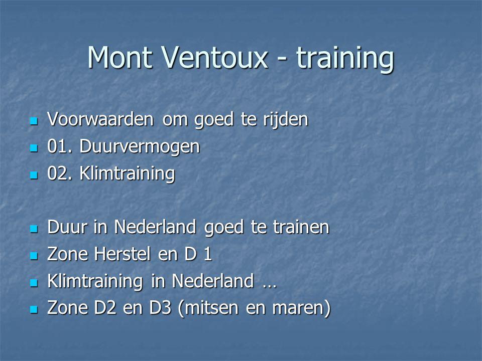 Mont Ventoux - training