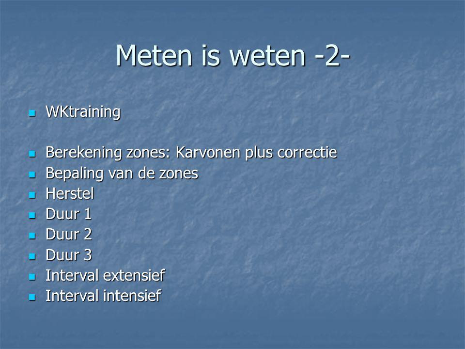 Meten is weten -2- WKtraining