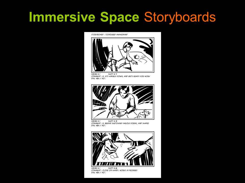 Immersive Space Storyboards