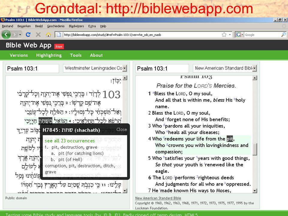 Grondtaal: http://biblewebapp.com