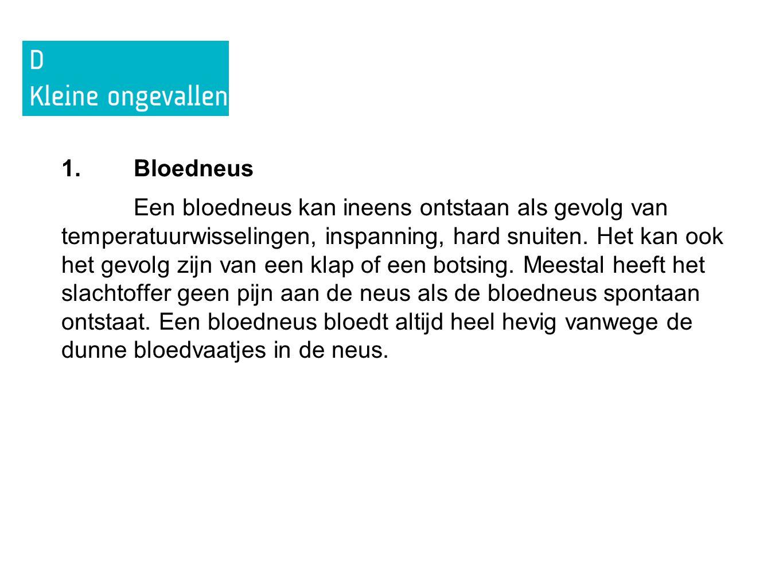 1. Bloedneus