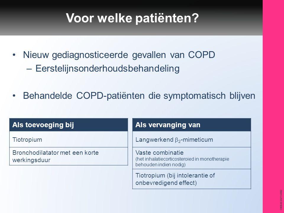 Voor welke patiënten Nieuw gediagnosticeerde gevallen van COPD