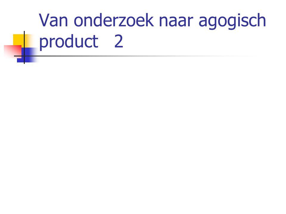 Van onderzoek naar agogisch product 2