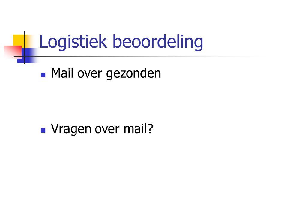 Logistiek beoordeling