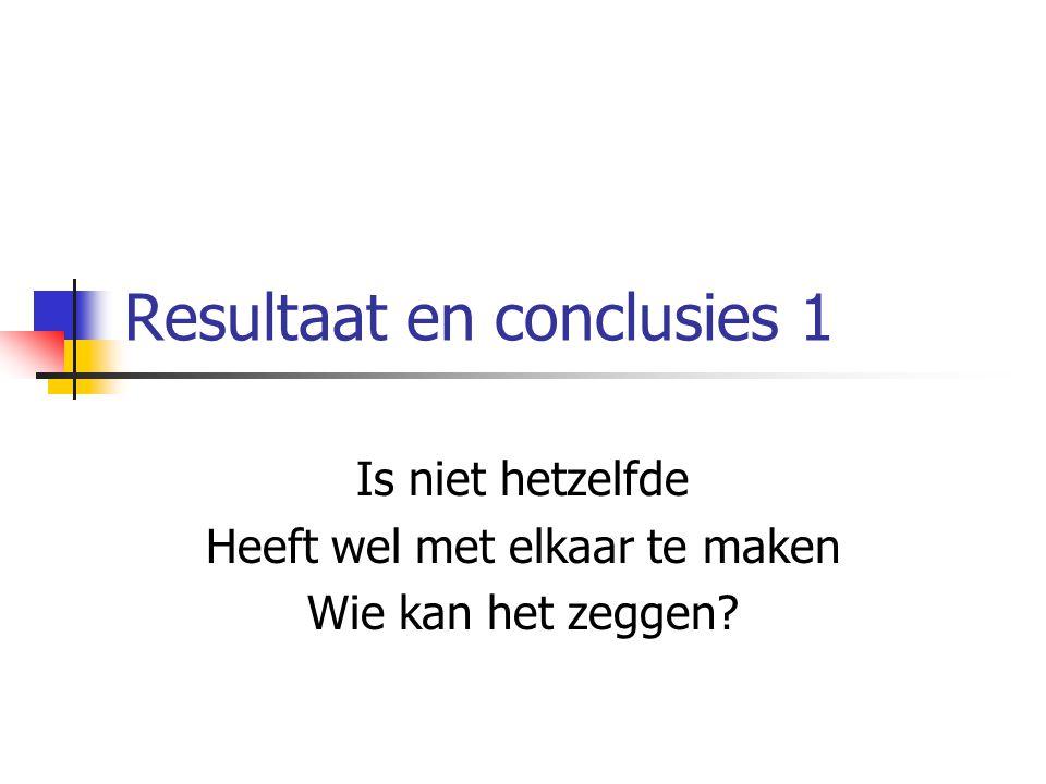 Resultaat en conclusies 1