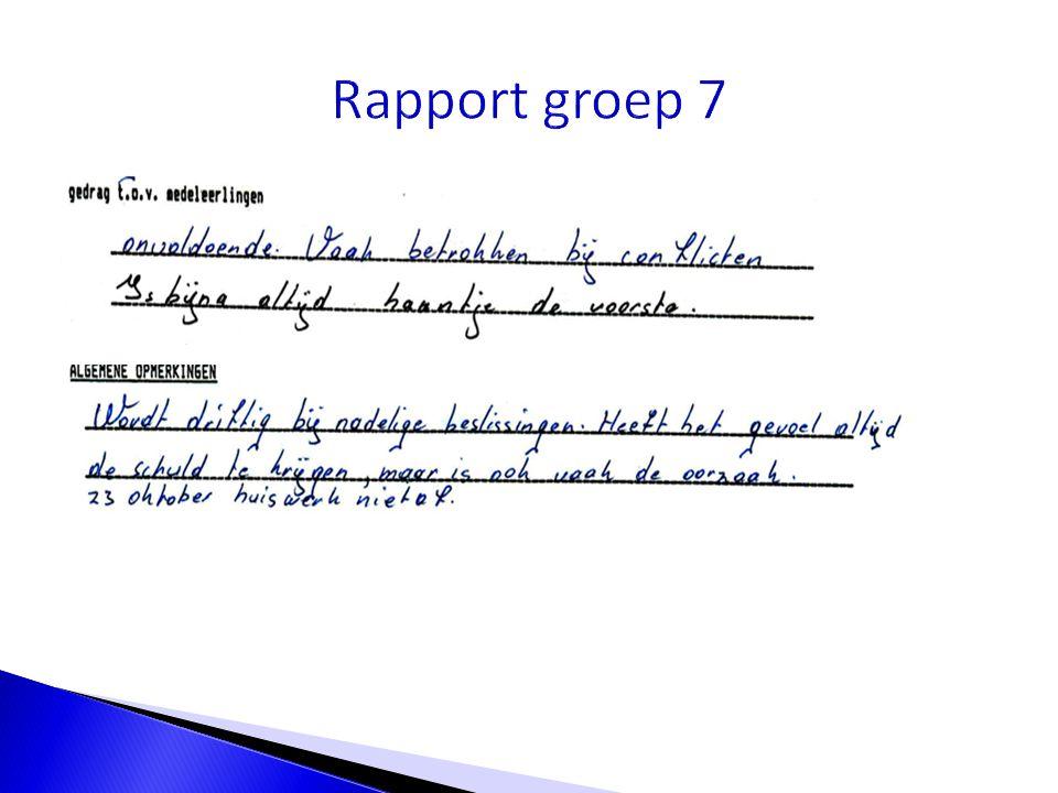 Rapport groep 7