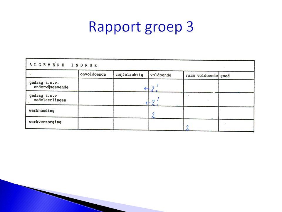 Rapport groep 3