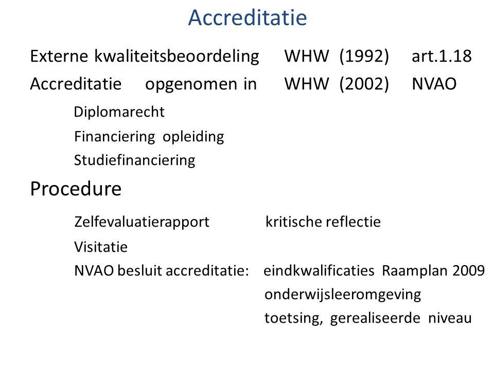 Accreditatie Procedure Zelfevaluatierapport kritische reflectie