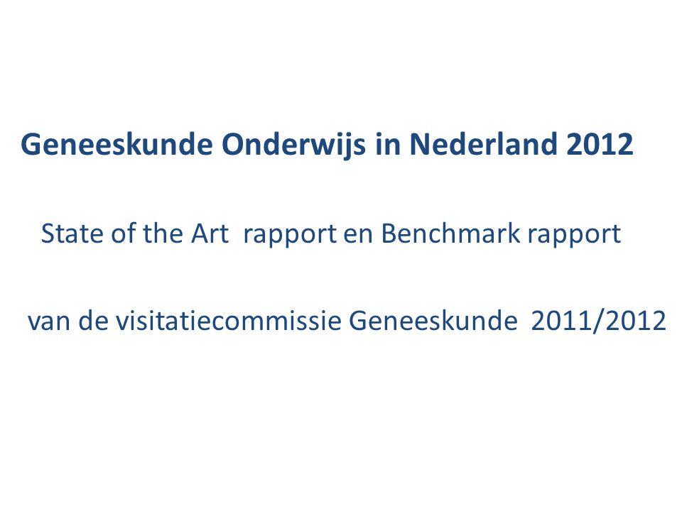 Geneeskunde Onderwijs in Nederland 2012