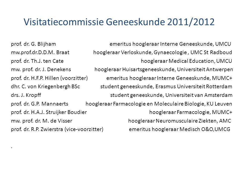 Visitatiecommissie Geneeskunde 2011/2012