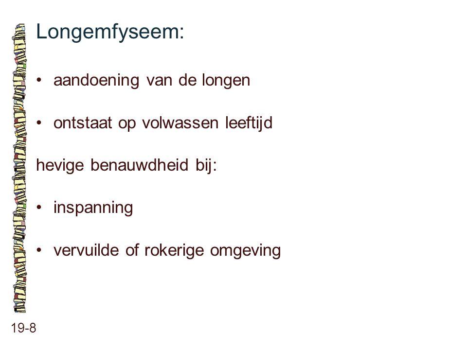 Longemfyseem: • aandoening van de longen