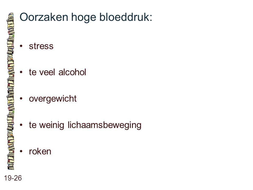 Oorzaken hoge bloeddruk: