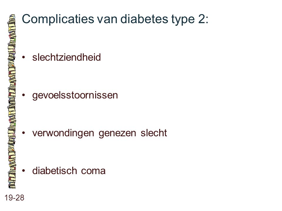 Complicaties van diabetes type 2: