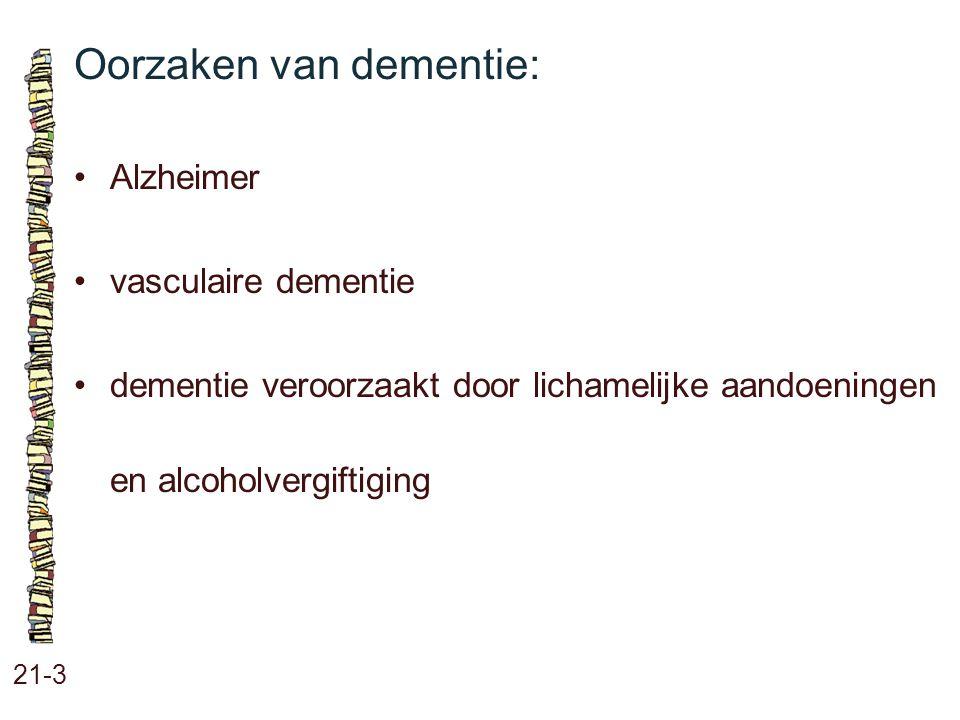 Oorzaken van dementie: