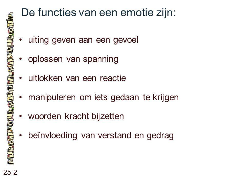 De functies van een emotie zijn: