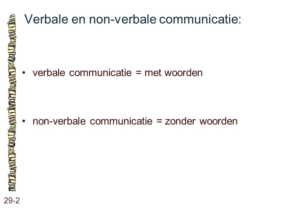 Verbale en non-verbale communicatie: