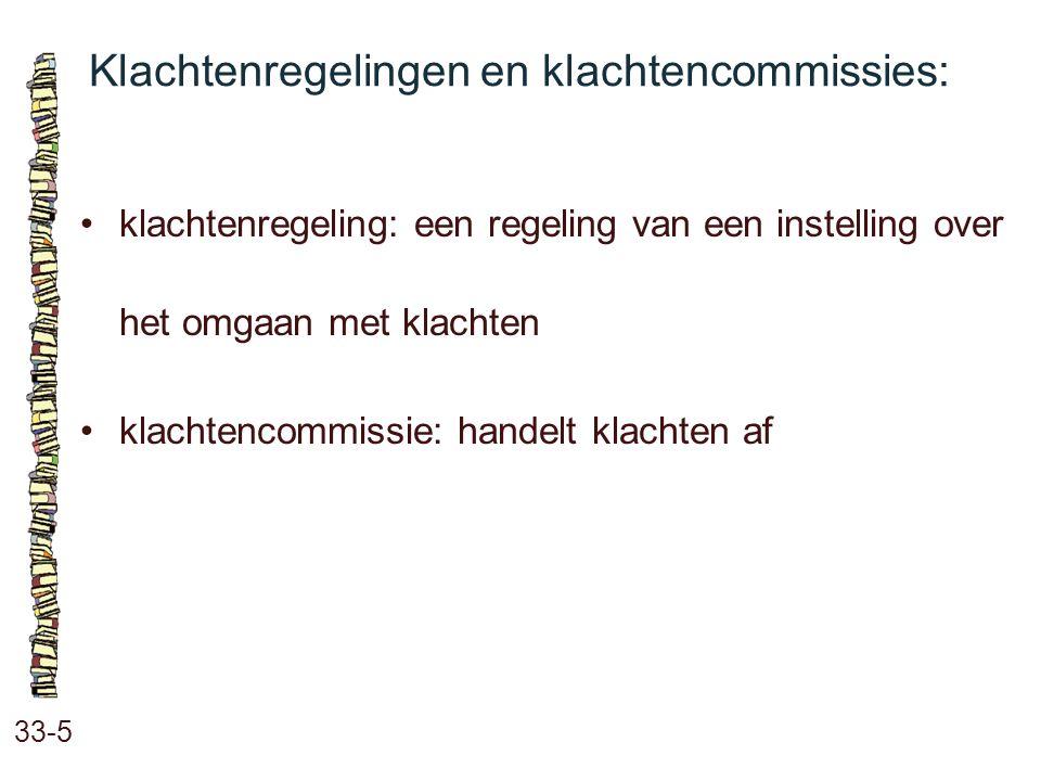 Klachtenregelingen en klachtencommissies: