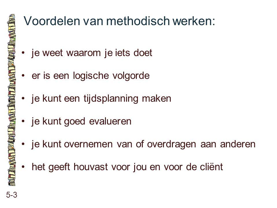 Voordelen van methodisch werken: