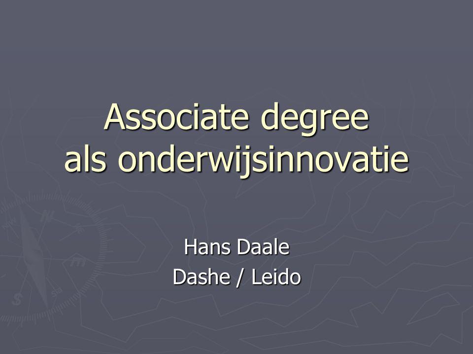 Associate degree als onderwijsinnovatie