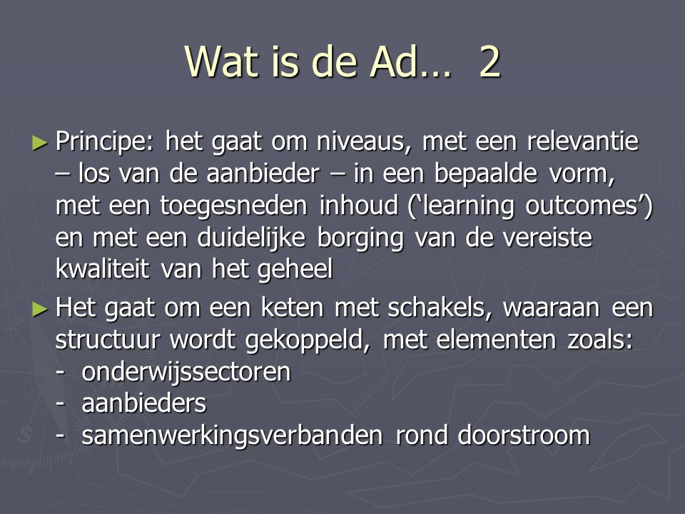 Wat is de Ad… 2