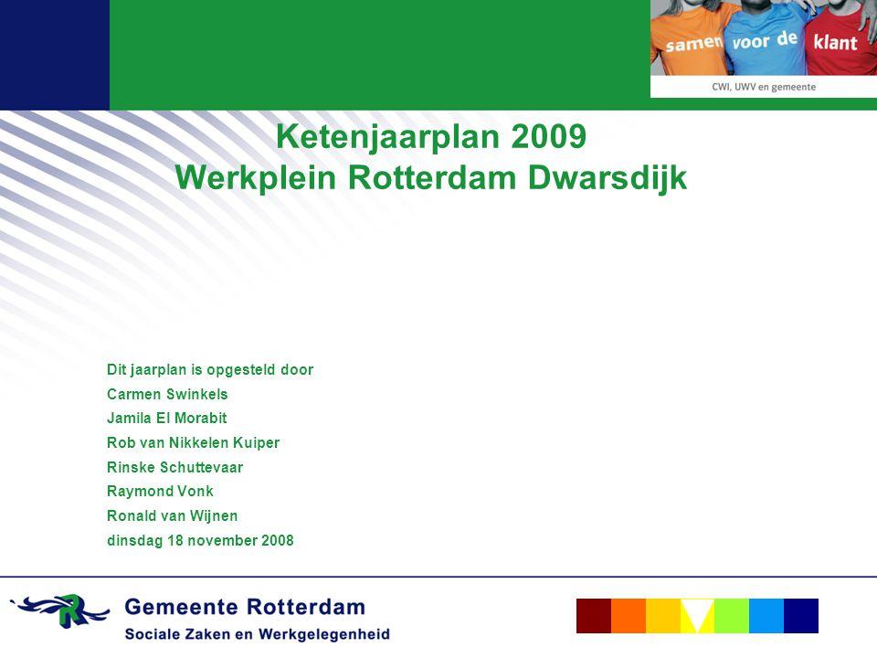 Ketenjaarplan 2009 Werkplein Rotterdam Dwarsdijk