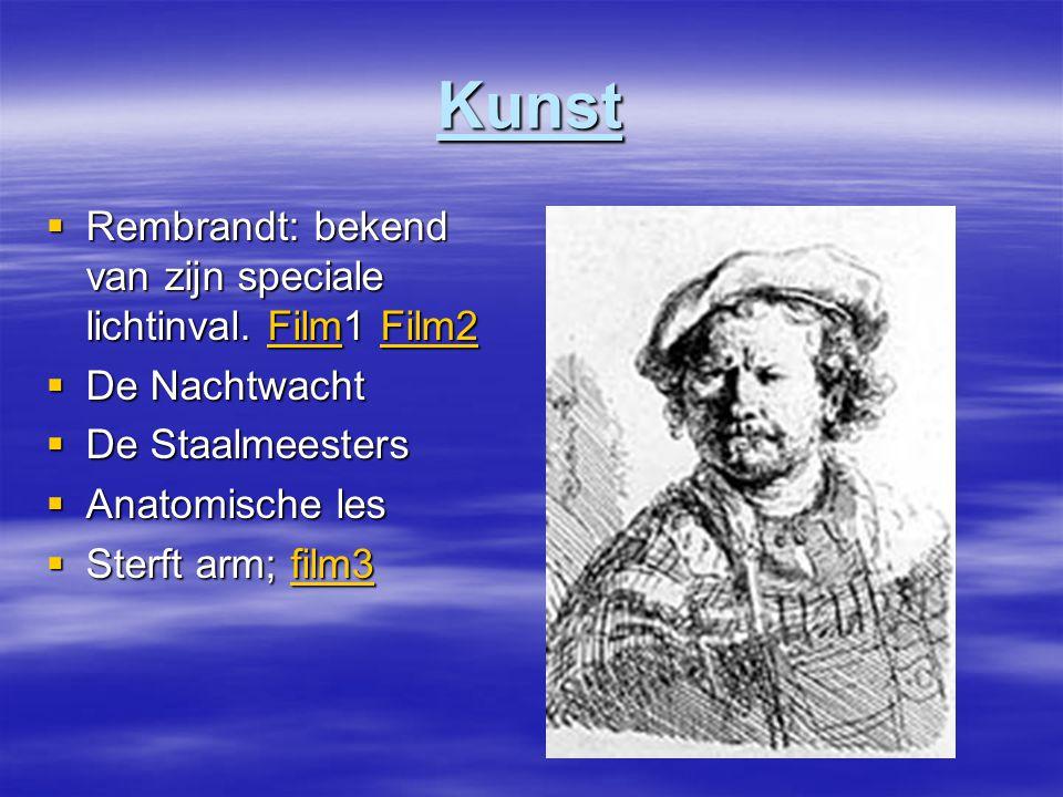 Kunst Rembrandt: bekend van zijn speciale lichtinval. Film1 Film2