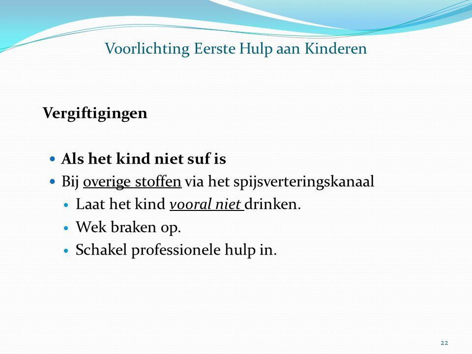 Voorlichting Eerste Hulp aan Kinderen