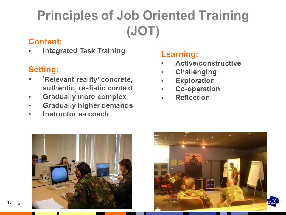 Principles of Job Oriented Training (JOT)