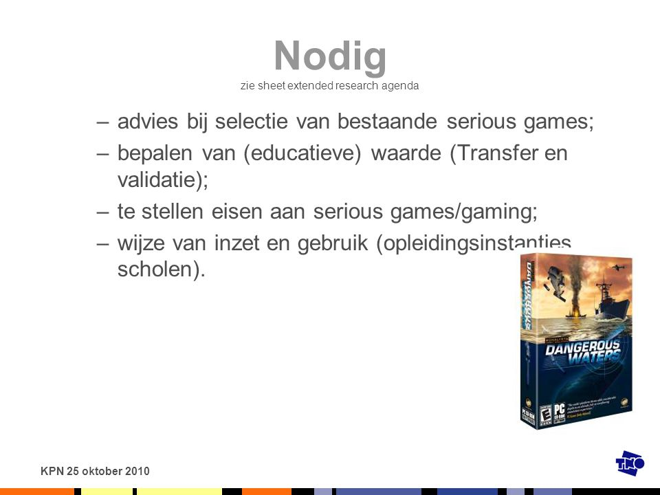 Nodig zie sheet extended research agenda