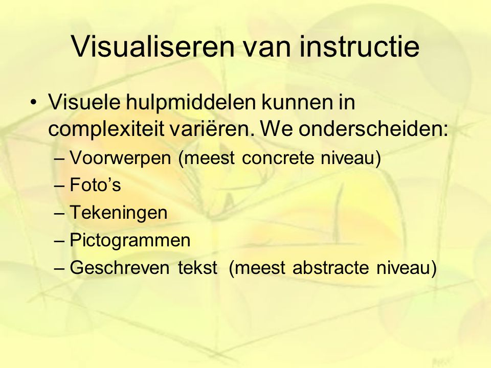 Visualiseren van instructie
