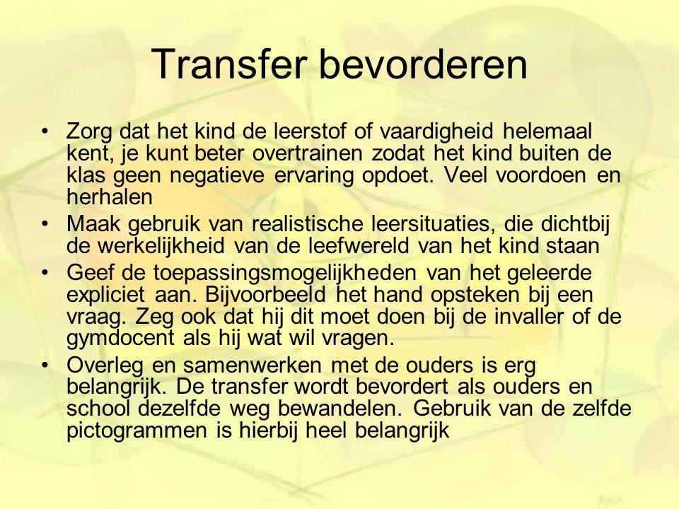 Transfer bevorderen