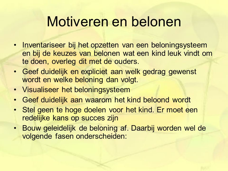 Motiveren en belonen