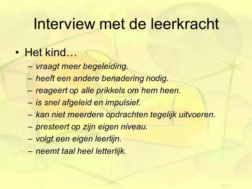 Interview met de leerkracht