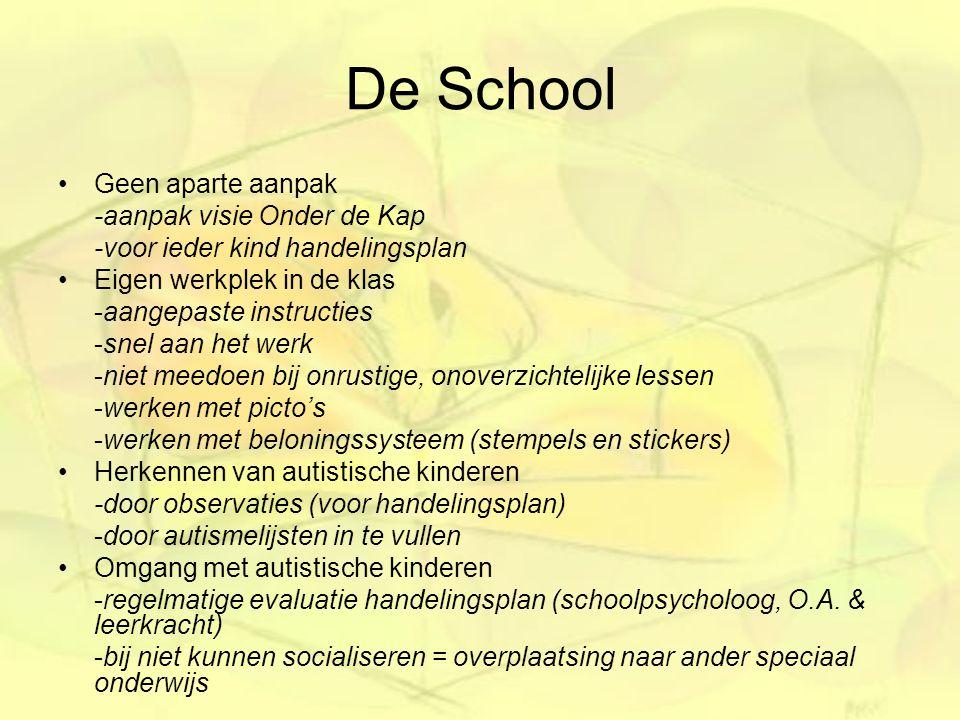 De School Geen aparte aanpak -aanpak visie Onder de Kap