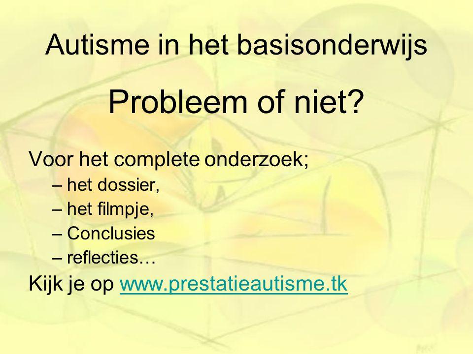 Autisme in het basisonderwijs