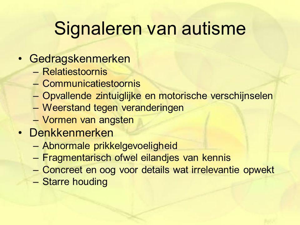 Signaleren van autisme