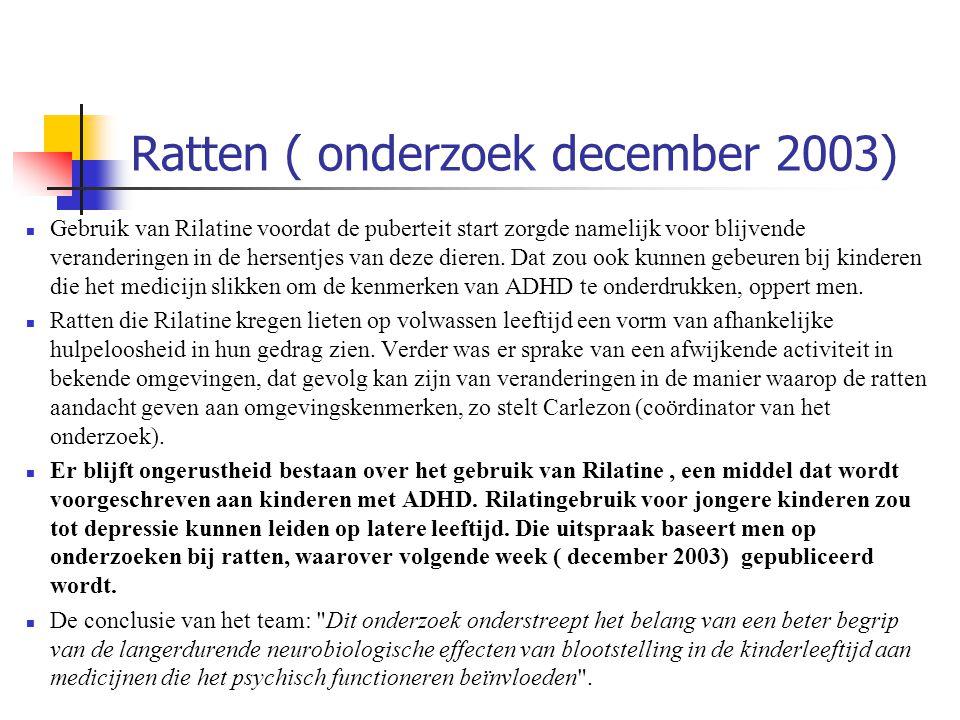 Ratten ( onderzoek december 2003)