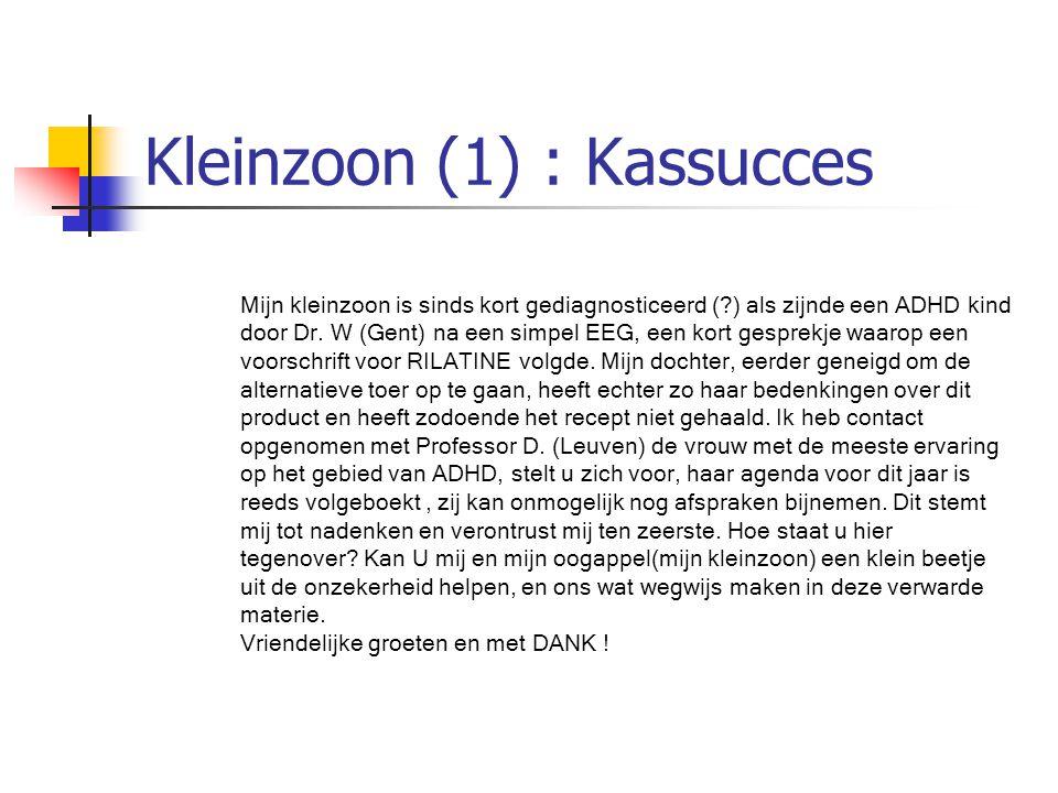 Kleinzoon (1) : Kassucces