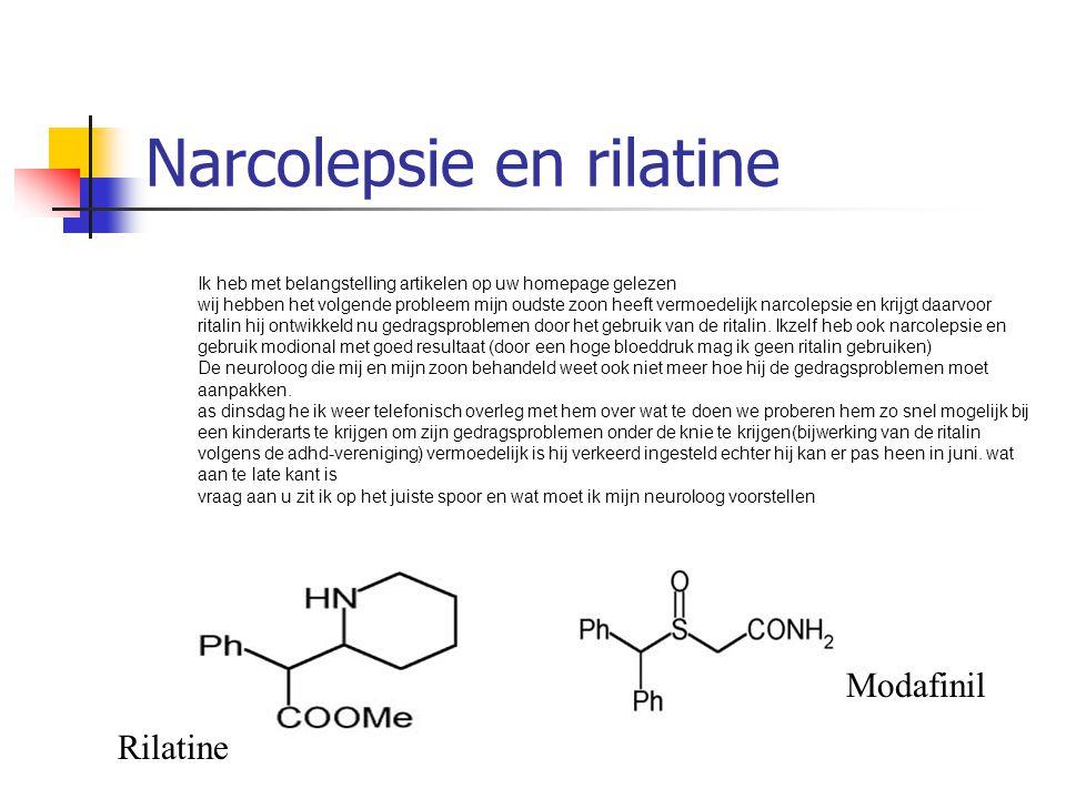 Narcolepsie en rilatine